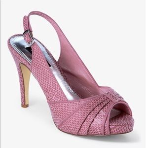 White House Black Market Pink Peeptoe Shoes